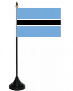 Botswana Desk / Table Flag with plastic stand and base.
